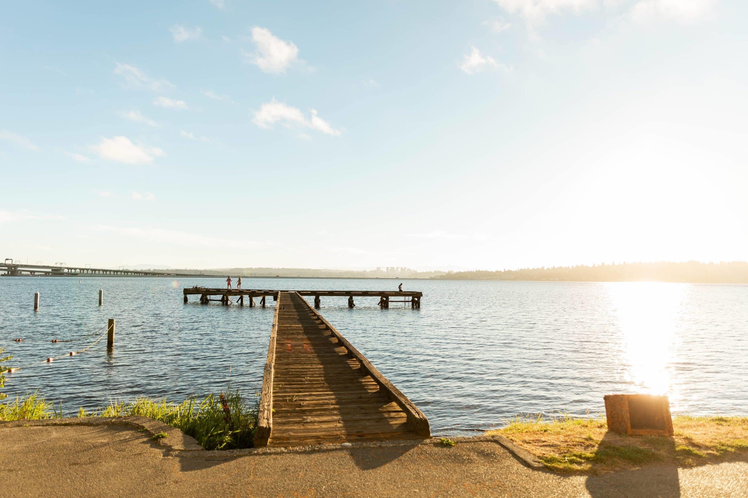 A view of Lake Washington from Seattle's Mount Baker Neighborhood