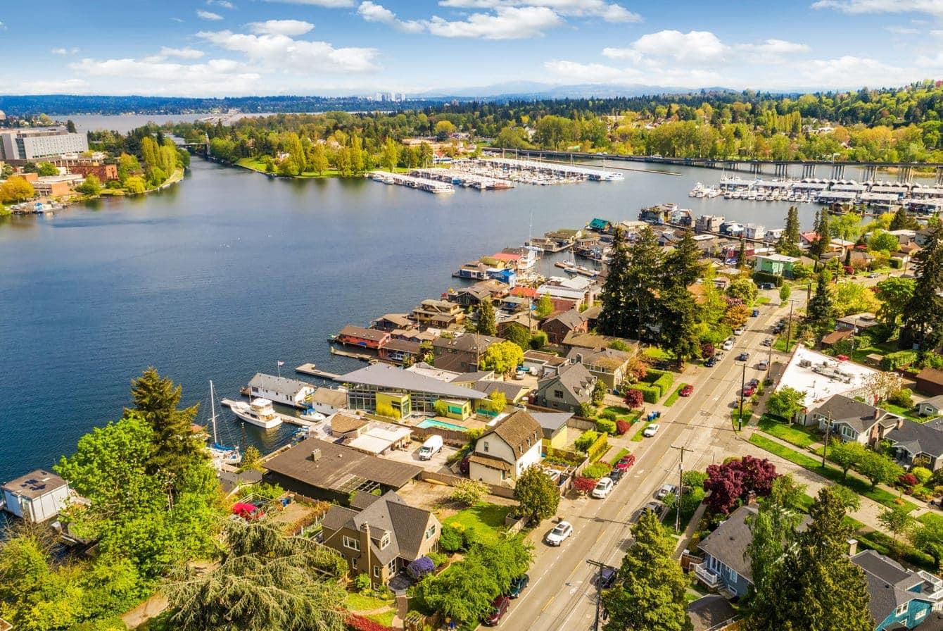 Seattle's picturesque Portage Bay neighborhood